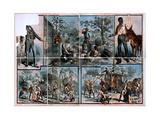 Vignettes of Western Scenes Giclee Print
