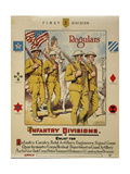 First Division, Regulars - Infantry Divisions - Enlist for I Giclee Print
