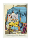 Taming a Shrew or Petruchio's Patent Family Bedstead Giclee Print