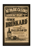 Federal Theatre Project Presents the Drunkard or the Fallen Giclee Print