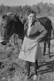 Thirty Year-Old Mule; the Girl Is Twenty-Five Photographic Print
