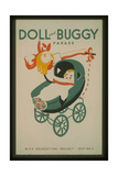 Doll and Buggy Parade - WPA Recreation Project Giclee Print