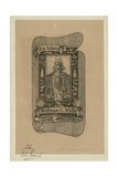 Bookplate of Archaeologist William C. Mills Giclee Print