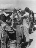 Part of an Impoverished Family of Nine on a New Mexico Highway Photographic Print