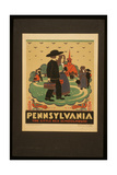 Pennsylvania the Little Red Schoolhouse Giclee Print