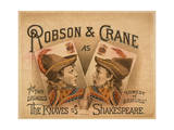 Robson and Crane as the Knaves of Shakespeare Giclee Print