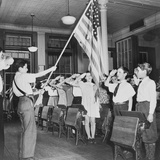 New York, New York Students Pledging Allegiance to the Flag Photographic Print