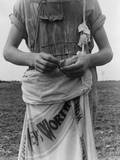 Farm Boy with Sack Full of Boll Weevils Which He Has Picked Photographic Print