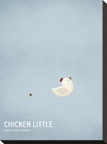 Chicken Little Stretched Canvas Print by Christian Jackson
