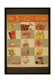 The 5 and 10 Cent Store the 5 and 10 Cent Store Giclee Print