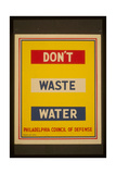 Don't Waste Water Giclee Print