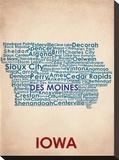 Iowa Stretched Canvas Print
