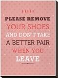 Remove your Shoes Impressão em tela esticada por Meme Hernandez