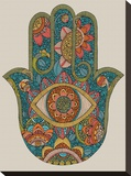 Hamsa Stretched Canvas Print by Valentina Ramos
