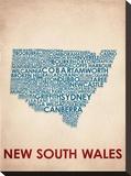 New South Wales Impressão em tela esticada