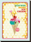 Less War More Ice Cream Stretched Canvas Print by Patricia Pino