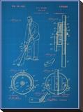 Adjustable Golf Club Blueprint Impressão em tela esticada