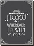 Home Is Impressão em tela esticada por Patricia Pino