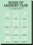 Laundry Club Green Impressão em tela esticada por Patricia Pino