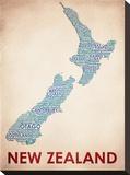 Nova Zelândia Impressão em tela esticada