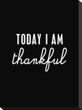 Today I Am Thankful Stretched Canvas Print