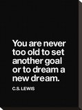 Dream a New Dream (C.S. Lewis) Stretched Canvas Print