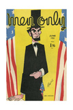 Cover Design, Men Only, Abraham Lincoln Giclee Print