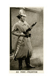 Woman Firefighter During WWI Giclee Print