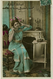 French Lady on Line Photographic Print