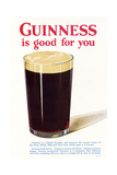 Advert, Guinness, 1929 Giclee Print