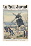Montmartre, Old Windmills Giclee Print