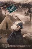 WW1 Postcard Nurse Prays Photographic Print