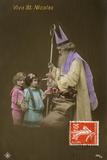 Father Christmas as St. Nicholas Photographic Print