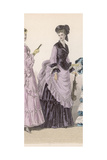 Lilac and Black Dress 1870 Giclee Print