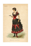 Monte Carlo Fancy Dress Costume Giclee Print