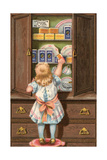 Girl and Cocoa Giclee Print