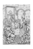 Alcuin and Charlemagne Giclee Print