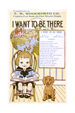Girl, Dog and Song 20C Giclee Print