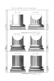 Columns Classical Orders Giclee Print