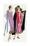 Two Ladies in Outfits by Jeanne Lanvin and Jean Patou Giclee Print