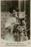 French Lady on Phone Photographic Print