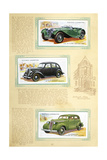 Player Motor Cars: Jaguar, Flying Standard and Studebaker Giclee Print
