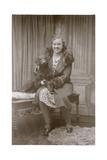 Studio Portrait, Woman with a Dog Photographic Print