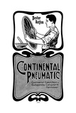 Manufacture of Continental Pneumatic Tyres, 1900 Giclee Print