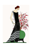Young Lady in Black Evening Dress by Jeanne Lanvin Giclee Print