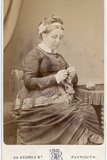Victorian Lady Knitting Photographic Print