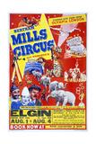 Circus Poster, B. Mills Giclee Print
