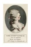 Marie Antoinette, Profile Giclee Print