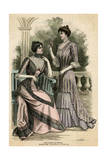Lilac Stripe Dress 1899 Giclee Print