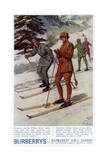 Advert for Burberry Winter Sports Wear 1923 Giclee Print